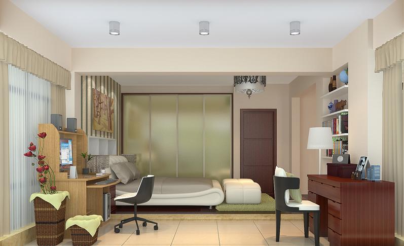 中式卧室003