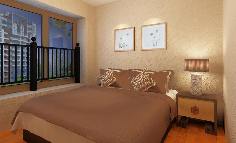 中式卧室001