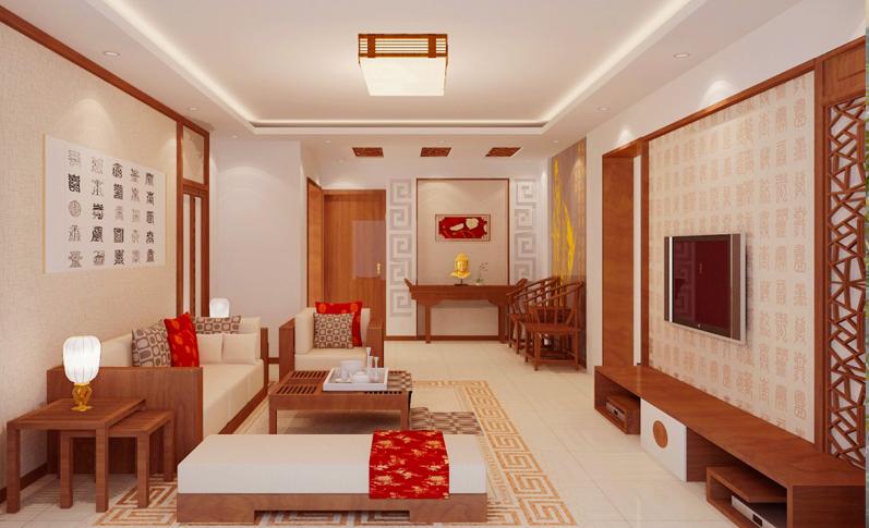 中式客厅008