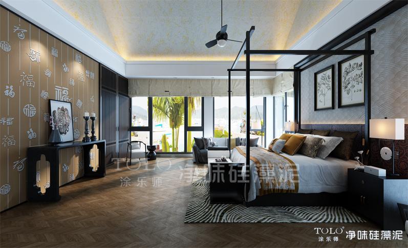 中式卧室011